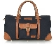 Сумка Land Rover Heritage Holdall, Navy/Brown LANDROVER