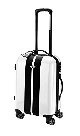 Чемодан Mini Rooftop Cabin Trolley White with black racing stripes MINI