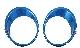 ОКАНТОВКА ФАР (с омывателем,цвет zama blue) NISSAN