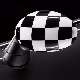 НАКЛАДКА (на зеркало правая, Checkered White) MINI
