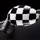 НАКЛАДКА (на зеркало левая, Checkered White) MINI
