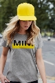 Женская футболка Mini T-Shirt Women's Wordmark Colour Block, Grey/Lemon (р-р xS,есть другие р) MINI