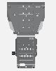 ЗАЩИТА КАРТЕРА+КПП (алюминий 4мм,полный привод) KIA