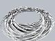 Женский спиральный браслет Audi Women's spiral bracelet with beads VAG