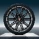 КОМПЛЕКТ ЛЕТНИХ КОЛЕС R21 SportEdition summer wheel set, black, high gloss, 4 wheels 10J x 21 ET 50+4 tyres 295/35 R 21 107Y XL,with TPMS PORSCHE