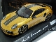 Модель автомобиля Porsche 911 Turbo S Exclusive Series – Limited Edition, Scale 1:43, Golden Yellow Metallic PORSCHE